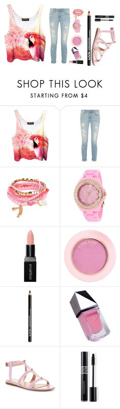 """""""Pink Parrot"""" by pinkie-pie-820 ❤ liked on Polyvore featuring Smashbox, NYX, GUiSHEM, Giambattista Valli and Christian Dior"""