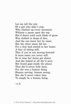 A tale of a girl