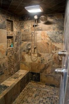 Bath Photos Log Cabin Kitchens Design, Pictures, Remodel, Decor and Ideas - page Nice walk in shower !