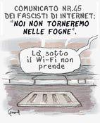 i Nuovi fasisti dell'internetta/3. Vignetta per il Misfatto, disegno digitale.