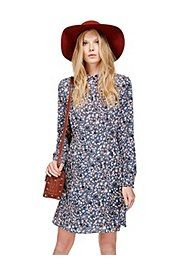 Floral Long Sleeve Fit & Flare Dress,
