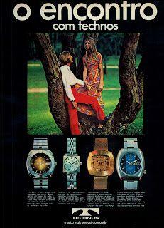 Anúncio relógios Technos - 1971