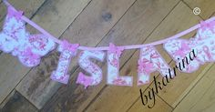 Beautiful name banners made for children, birthdays, Christmas and Mr & Mrs banners for weddings in silk.