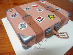 Suitcase birthday cake - cake art by lauren