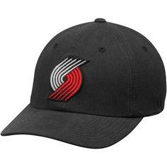 db92f225fc8 Men s Portland Trail Blazers Mitchell   Ness Black Basic Washed Flex Hat