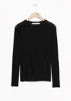 & Other Stories | Long-Sleeved Wool Top