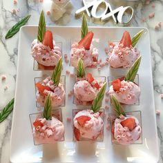 Gold Leaf Gourmet: Strawberries and Cream Verrines Recipe
