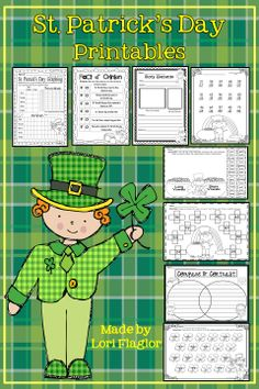 Just Print & Go activities for St. Patrick's Day.