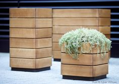 Collection Dimanche   Planter, waste and recycling receptacles by Equiparc