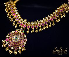 Adorn yourself with this splendid south indian traditional carat gold Attiga… – Schmuck modelle Ruby Jewelry, India Jewelry, Rose Gold Jewelry, Wedding Jewelry, Fine Jewelry, Jewelry Stand, Jewelry Making, Silver Jewellery Indian, Gold Jewellery Design