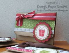 gift card holder with template