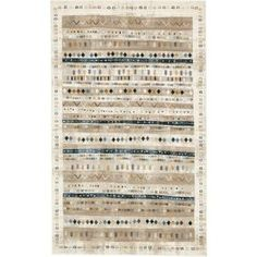 Unique Loom Painted Chimera Area Rug - 2 X 5 (Beige - 2 X Brown (Polypropylene, Border) Floral Area Rugs, Beige Area Rugs, Solid Rugs, Synthetic Rugs, Painted Rug, Area Rug Sizes, Brown And Grey, Gray, Colorful Rugs