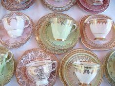 Afternoon Tea - The Vintage Table ~ Vintage China Hire ~ High Tea ~ Weddings Parties Vintage High Tea, Tea Sets Vintage, Vintage Cups, Vintage Dishes, Vintage Table, Vintage China, Vintage Ideas, Tea Cup Saucer, Tea Cups
