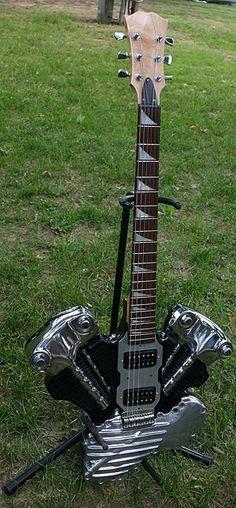 knuckle guitar, nice...  Harley-Davidson of Long Branch www.hdlongbranch.com