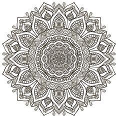 Mandala achtergrond Vintage decoratieve elementen Hand getekende achtergrond Stock Vector