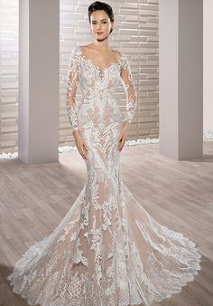 Demetrios 717 Mermaid Wedding Dress