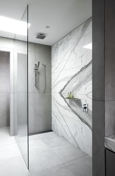 Hawthorn - Open shower configuration was identified at the most efficient and functional option, and it definitely creates an eye-catching bathroom feature.