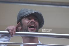 Lead singer Jay Kay from Jamiroquai at Sydney Festival First Night is seen at Norman Jay's Good Time Sound System Bus on January 7, 2012 in Sydney, Australia.