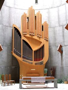 "Organ of Notre-Dame des Neiges, France - in the shape of a hand, the ""hand of God"".    Designed by Jean Guillou in 1978, with modifications in 1987. Case Design by Jean Marol. Built by Detlef Kleuker.  http://www.jean-guillou.org/alpe-d-huez-gb.html    Thank you Marcus Wibberley for sharing with us!"