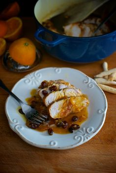 Solomillos de pavo con salsa de naranja