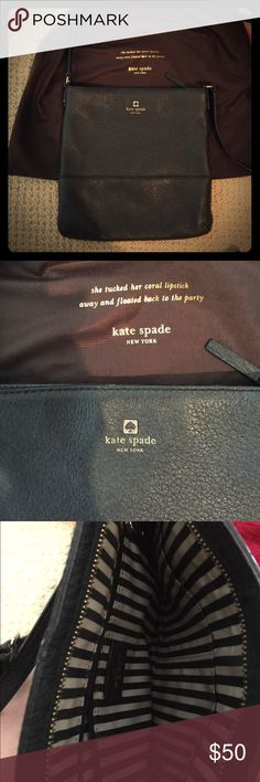 Katé Spade cross body bag Soft black leather good condition very versatile great for everyday and travel . kate spade Bags Crossbody Bags