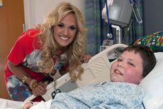Carrie Underwood Makes New Friends at Boston Children's Hospital