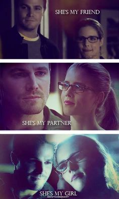 Evolution of Olicity. Tell me they're not going to end up together. Tell. Me. Now.... I really want them to but I somehow don't see it!!