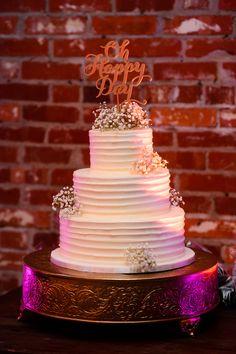 Simple but beautiful cake!  Photo by: Adam Padgett Weddings.   #ptopofthebluegrass #ptopweddings2016 #weddingcake #weddingdesserts #weddingdecor #weddingflowers #weddingcaketopper #weddingreception #weddingceremony #weddingphotography #weddingvenues