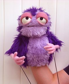 Professional Purple Furry Monster Puppet by blankpuppets on Etsy