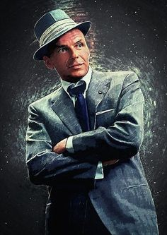 Frank Sinatra by Zapista OU Frank Sinatra Poster, Franck Sinatra, Dean Martin, American Singers, Blue Eyes, Thing 1, Movie Stars, Actors, Art Prints