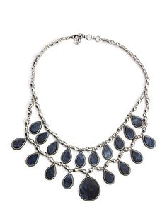 DIY inspiration - Lapis Statement Collar Necklace - Necklaces - Lucky Brand Jeans