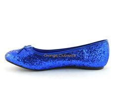 Sparkly blue flats