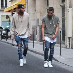 Me and Bruh @abdelpom just Chillin in tha Street ... @champaris75  #champaris #margiela #buscemi