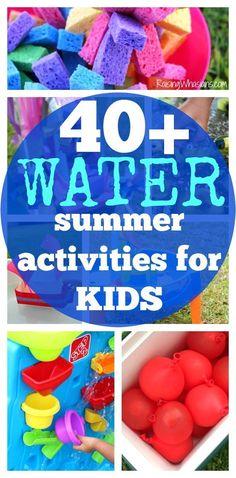 40+ Water Summer Activities for Kids + Printable Checklist