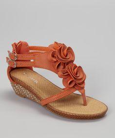 Orange Jojo Wedge Sandal | something special every day