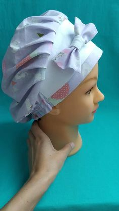 Scrub Hat Patterns, Hat Patterns To Sew, Koi Scrubs, Cute Scrubs, Chef Dress, Chef Hats For Kids, Nurse Cap, Scrub Caps, Diy Hair Accessories