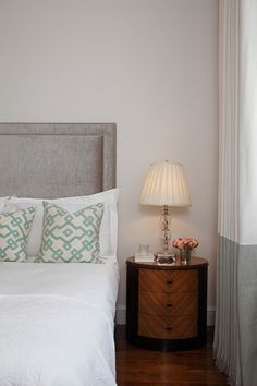 Interior Design Inspiration – Our portfolio showcases how we re-invent a tired two-storey apartment on Mayfair's iconic Green Street. Green Street, Interior Design Inspiration, Color Schemes, Bed Pillows, Pillow Cases, Colours, Mansions, Bedroom, Furniture