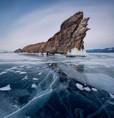 Atmospheric Phenomena: Amazing Frozen Lake Baikal in Siberia, Russia