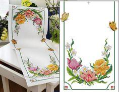 Baixar esquema de toalhas de mesa, guardanapos bordados