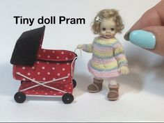 Polymer Clay Miniature 1 to 12 - The Baby Carriage - YouTube