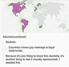 Not mentioning the hatred levels in the world, particularly in the countries where marriage is legal. Sad. Just sad.
