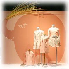 Escaparate Pili Carrera moda infantil primavera verano 2015. windowshop windowdisplay