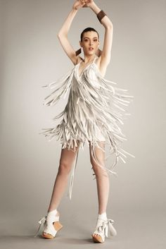 HELLO! Leather Fringe Dress by MsWood on Etsy, $877.00