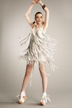 Leather Fringe Dress