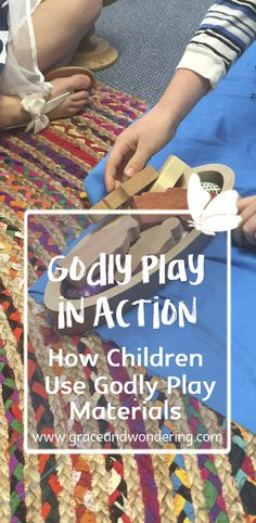Learning through play is a great way to teach the Bible. Godly play offers materials and an environment to encourage learning through play. Bible Story Crafts, Bible Stories For Kids, Preschool Bible, Bible Activities, Play Based Learning, Learning Through Play, Scriptures For Kids, Homework Club, Catholic Religious Education