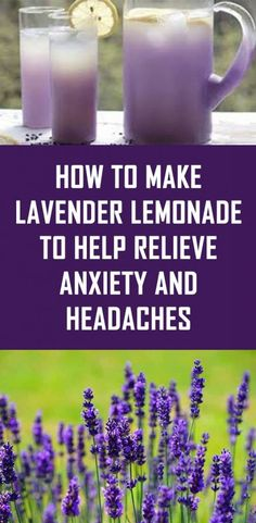 Secret Health Remedies How to Make Lavender Lemonade to Help Relieve Anxiety And Headaches Health Remedies, Home Remedies, Natural Remedies, Lavender Benefits, Family Problems, Angst, Health And Wellbeing, Healthy Drinks, Detox Drinks
