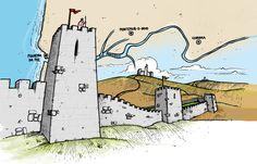 Ilustração My Own Portugal do roteiro Castelos   e Muralhas do Mondego