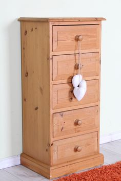 £79 Pine tall 5 drawer chest, shabby chic rustic in style (painting project) - http://www.sussexpineonline.co.uk/