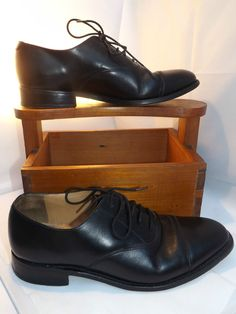 Barker Goodyear Welted Traditional English Black Oxford Shoes 7 1/2 UK 42EU