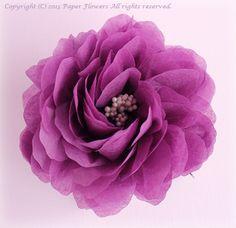 前田京子、お花紙の花、Tissue Paper Flowers、ペーパーフラワー